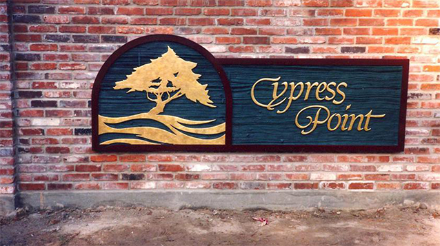 Cypress Point Sign